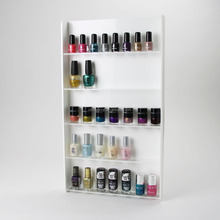 Wall Mounted Nail Polish Salon 4 Colours Acrylic Nail Varnish Display Stand