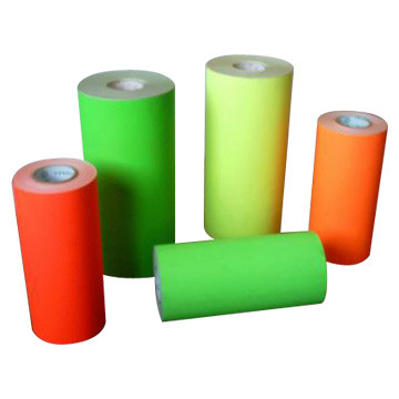 self adhesive Fluorescent sticker paper with different color