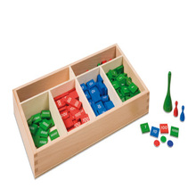Montessori Educational Wooden Decimal Stamp Game For Preschool Child