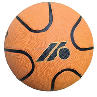 Custom durable size 7 rubber basketball for students/wholesale rubber basketball