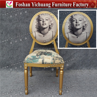 Sexy Goddess Chair Fancy Delicate Gold Wedding Chair YC-D127