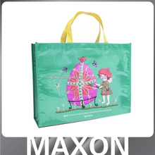 Popular white pictures printing non woven shopping bag guangzhou factory