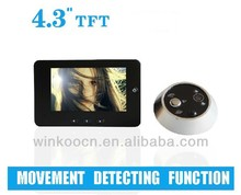 "4.3"" Movement detecting,electronic door bell,electronic door camera,electronic door eye"