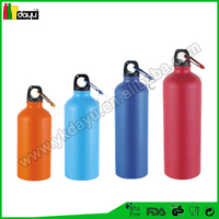 High quality various capacity spray bottle Flat aluminum water bottle