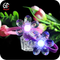 Alibaba Wholesale Hot Sale For 2015 Led Flashing Triple Wide Glow Bracelet