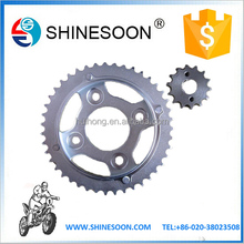 High quality motorcycle part motorcycle sprocket /motorcycle chain and sprocket sets