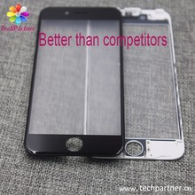 OEM for LCD display front screen outer glass top panel lens cover with frame for 6 plus
