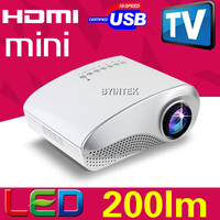 lowest price mini led projetor full HD 3D HDMI USB VGA video portable pico micro pocket LED projector proyector beamer