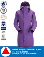 New arrival high end waterproof women rain coat, women clothing