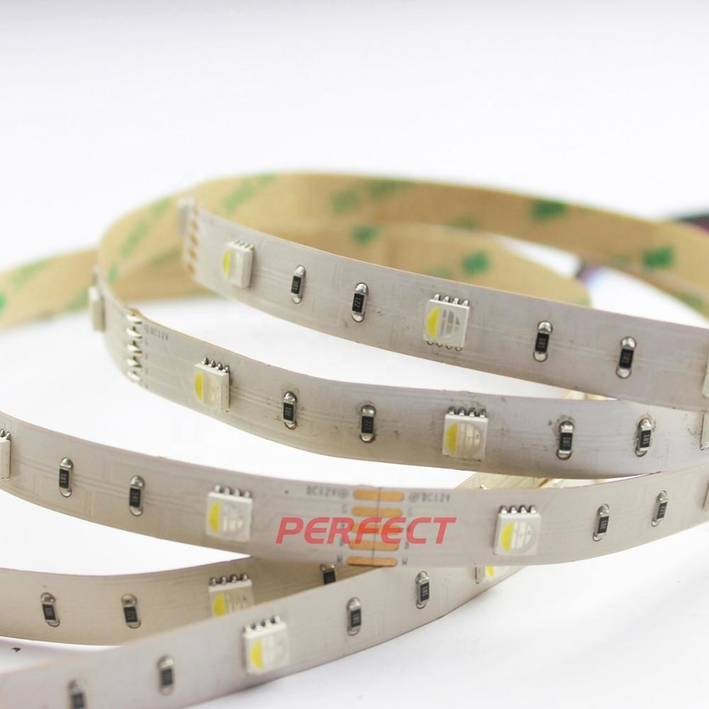30 60 84 120 led/m DC12V 24V Strip <strong>Lighting</strong> 5050 RGBW 4 in 1 Chip RGB+ White Flexible LED Strip Lights with <strong>controller</strong>