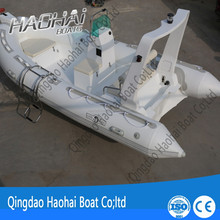 New rib470 factory customized fiberglass fishing boat with fish well