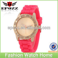EPOZZ Fashion japan quartz movt watch promotional silicone watch for lady