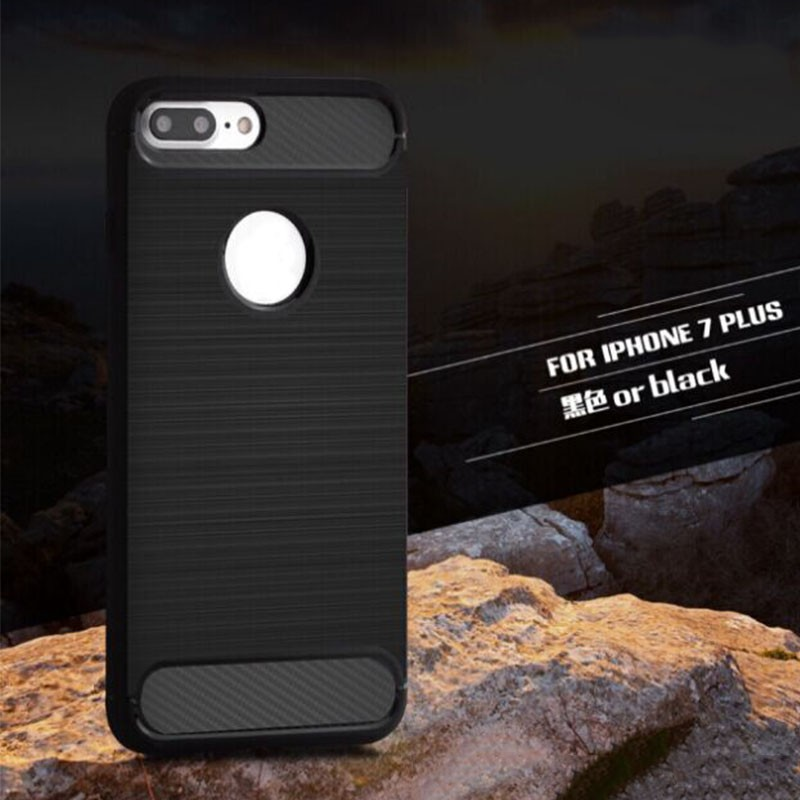 For iPhone 7 case low MOQ carbon fiber design TPU phone case For iPhone 7