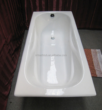 one person drop in cast iron hot bathtub with handle and leg