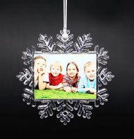 Customize sublimation photo christmas decorations 2017 gift christmas tree ornament