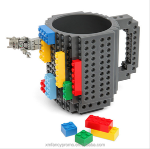 Desk Ornament 12oz 350 ml Build-On Brick Mug Coffee Cup Water Bottle Puzzle Toy Mug