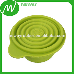 Daily Use Custom Food Grade Silicone Folding Bowl