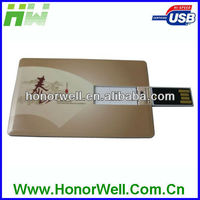 4GB 8GB 16GB two sides logo printing credit steel man usb business card flash drive