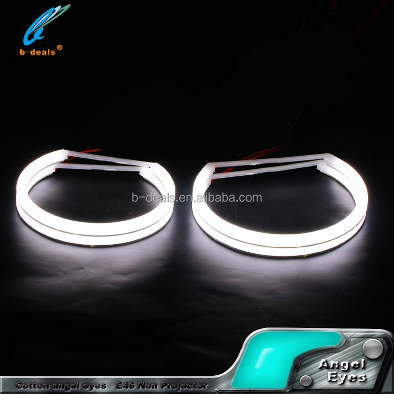 Milk white cotton cover Angel eyes for bmw 131mm 146mm led angel eyes
