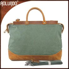 New Design Waxed Cotton Canvas Travel Bag