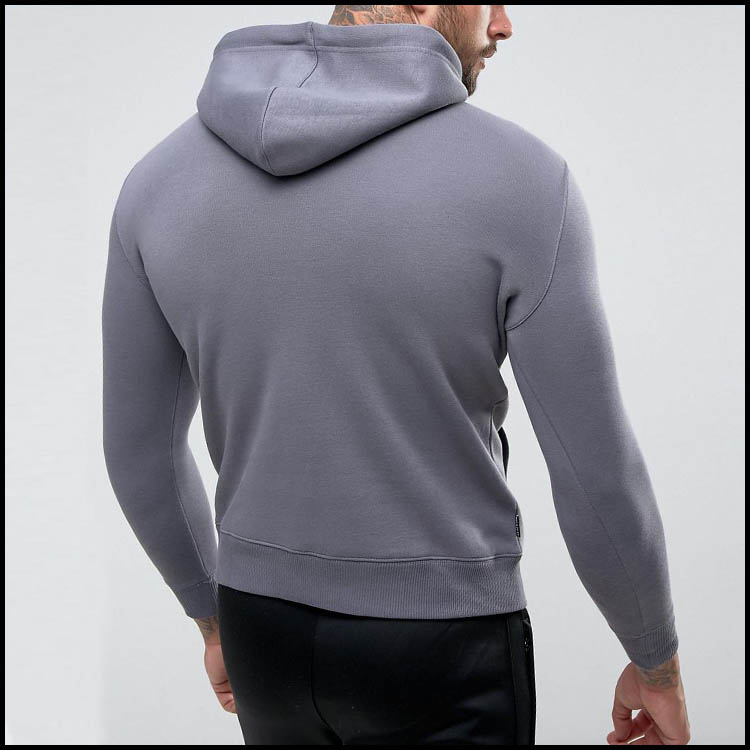 High Quality Custom Plain 100% Cotton Fitness Hoodie In Clothing Manufactures