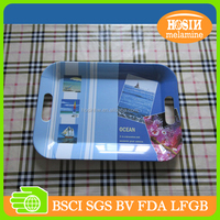 melamine tray with handle melamine food trays
