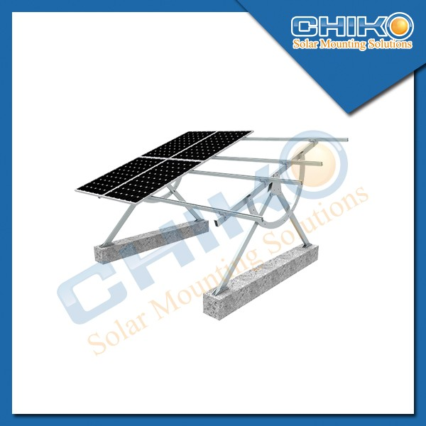 Movable solar panel support mount bracket