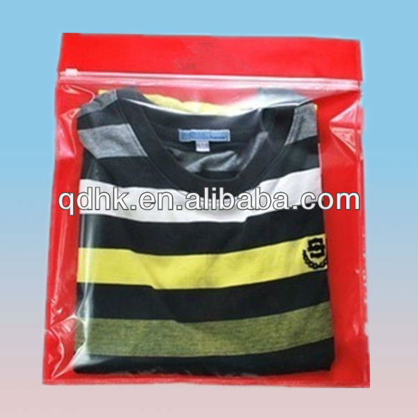 resealable shopping garment packaigng bag