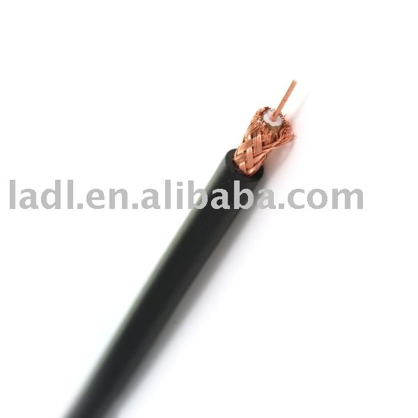 RG58 50 Ohms Coaxial Cable with PVC Outer Jacket, used low-power signal and RF connections