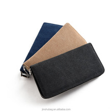 Mens' canvas zipper wallet men clutch hand bag fashion clutch purse men's wallet