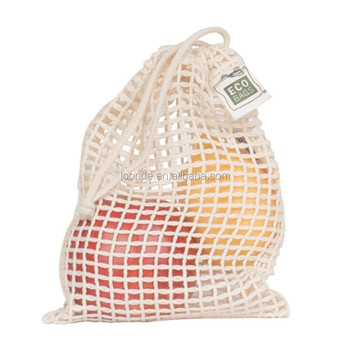 Hot sale Natural Cotton Soap Bag Drawstring Net Bag
