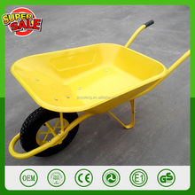 China Qingdao manufacturer french commercial wheelbarrow WB6400 large capacity concrete wheelbarrow