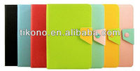Fold contrast color pu leather case for ipad mini