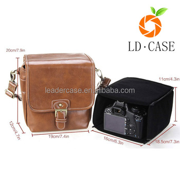 The Newest PU Leather Camera Bag Case With Shoulder Strap for Camera