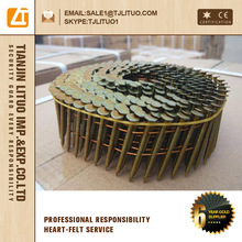 Plain shank polished Coil roofing nail /Q 195 Wire rod