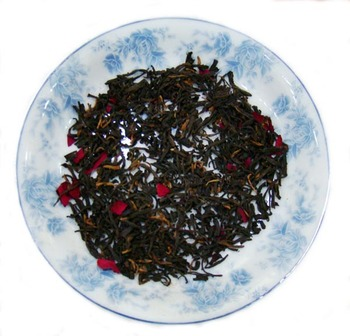 Rose Green Tea with dried flowers tea the vert de china green blending tea