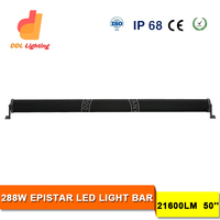 LED lightbar flood and spot combo 48 - 52 inches led bar light 288w 300w top selling in US market
