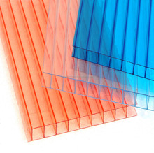 6mm double wall customized polycarbonate hollow sheet