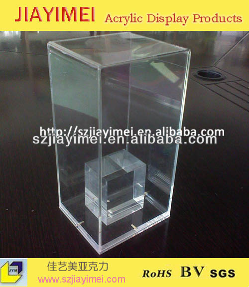 Clear Acrylic display box/crystal cube in side
