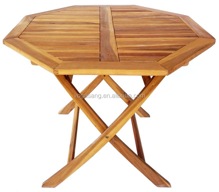 Vogasang Supplying FSC Solid Wood Octagon Foding Table for Garden