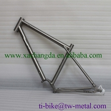 Titanium MTB bike frame with belt drive hot-sale Ti bicycle frame with sliding dropouts XACD titanium Mountain bike frame inner