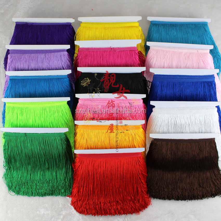 Best selling hot chinese products polyester tassel fringe/tassel fringe lace trim