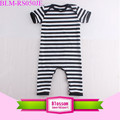 Newborn Boy Gril Clothes Short Sleeve Infant Product Toddler Romper Black And White Stripes Baby Boy Romper
