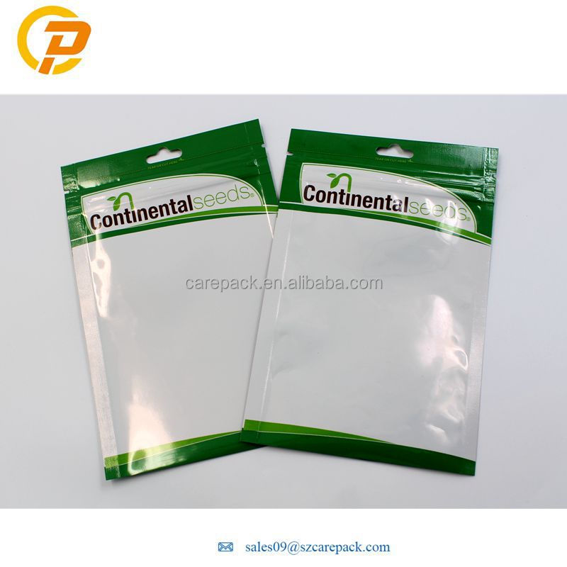Aluminum Foil Custom Zipper Agricultural Seed Packaging Bag