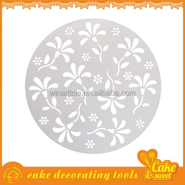 Christmas and birthday lace plastic cake stencil to decorate cake