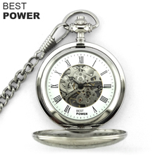 2018 hot sell high quality stainless steel custom engraved mechanical pocket watch relogio de bolso