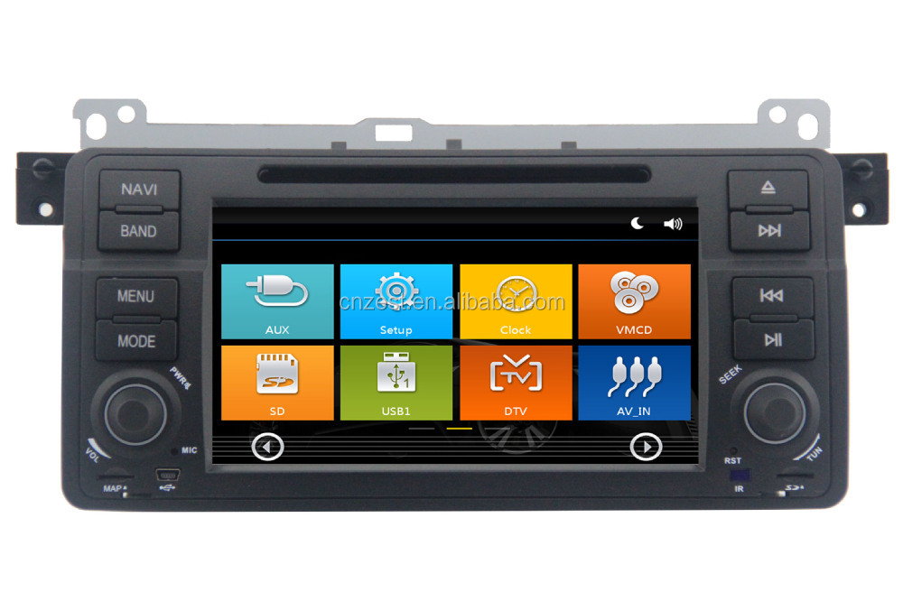 In -dash 7 inch car dvd gps for BMW E46 with Rear View Camera GPS BT TV Radio RDS