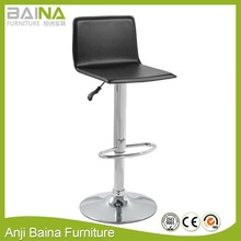 L shaped PVC high stool cheap bar furniture