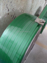 High strength PET strapping band - made from recycled PET bottle flake