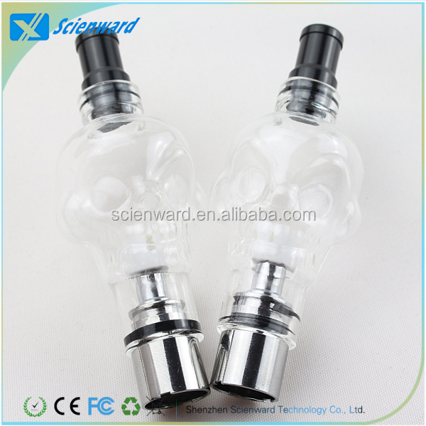 Good Price Wax and Dry Herb atomizer Glass Skull Vaporizer with Ceramic Coils on Promotion